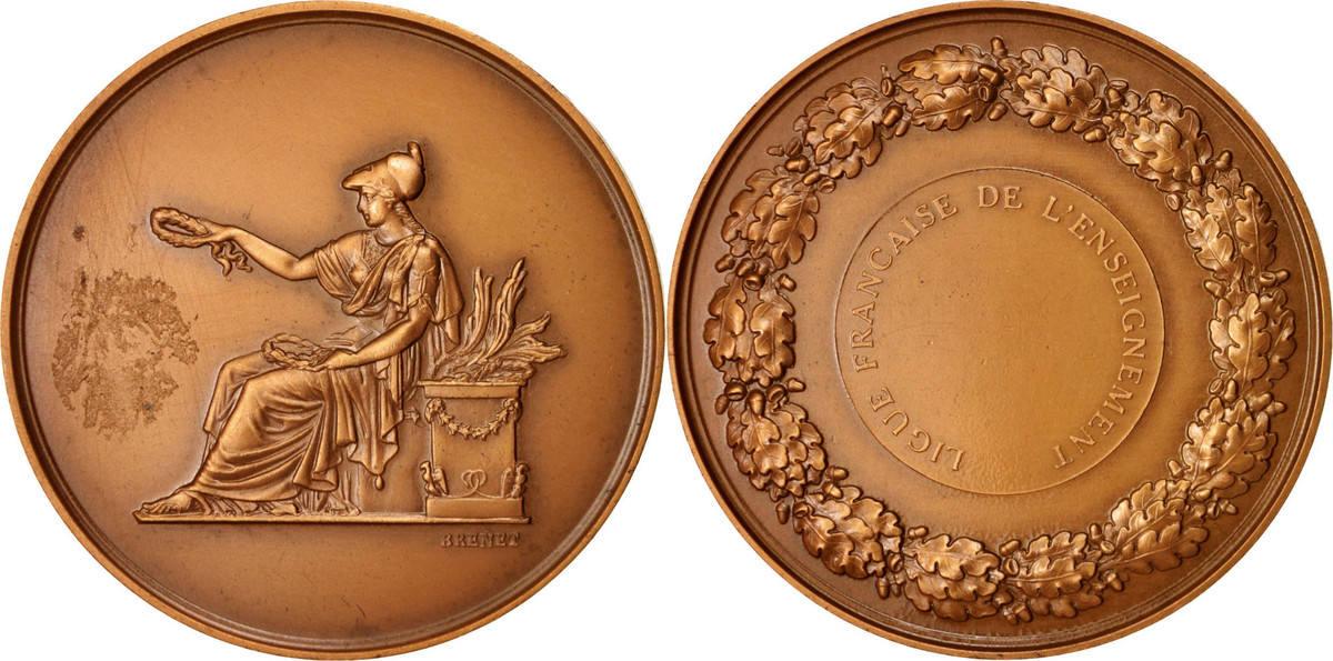 Medal 1968 Frankreich Ligue Française de L'Enseignement, Arts & Culture SS+