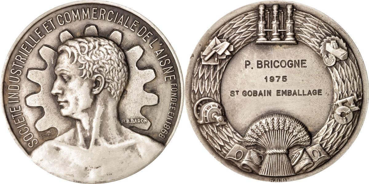 Medal 1975 Frankreich Société industrielle et commerciale de l'Aisne, Business... SS+