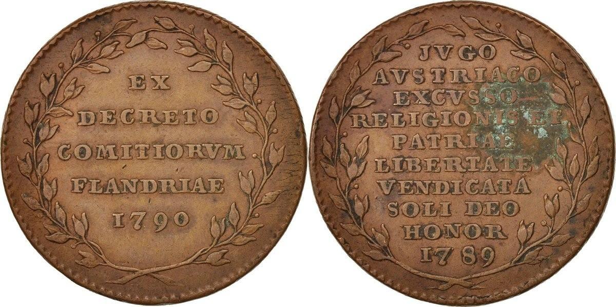 Token 1790 Niederlande Indépendance, SS, Copper SS