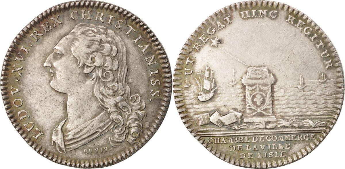 Token Frankreich Royal, Chambre de Commerce de la Ville de Lille, Louis XVI SS+