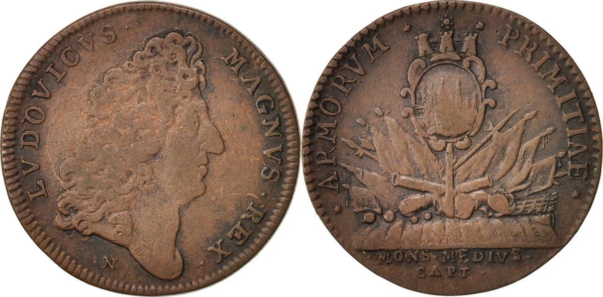 Token Frankreich Royal, Ardennes, Prise de Montmédy, Louis XIV, SS, Copper... SS