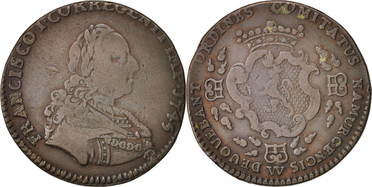 Token 1745 Deutschland Royal, Frans I, SS, Copper SS