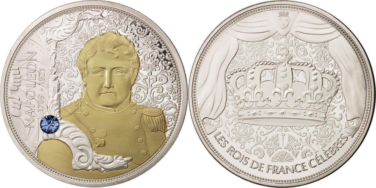 Medal 2013 Frankreich Les rois de France célèbres, Napoléon 1769-1821, Histor... STGL