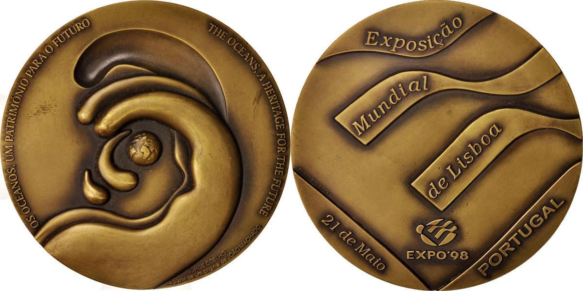 Medal 1998 Portugal Exposiçao Mundial De Lisboa, Sciences & Technologies SS+