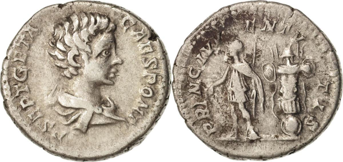 Denarius 200 Roma Geta, Roma, SS, Silber, RIC:18 SS
