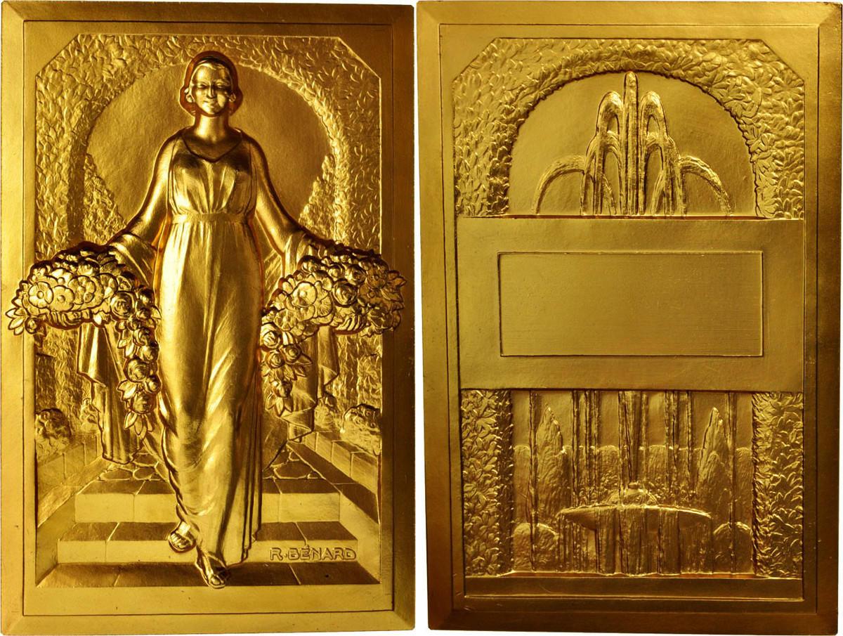 Medal 1967 Frankreich Woman with Flowers, Arts & Culture, Benard, STGL STGL