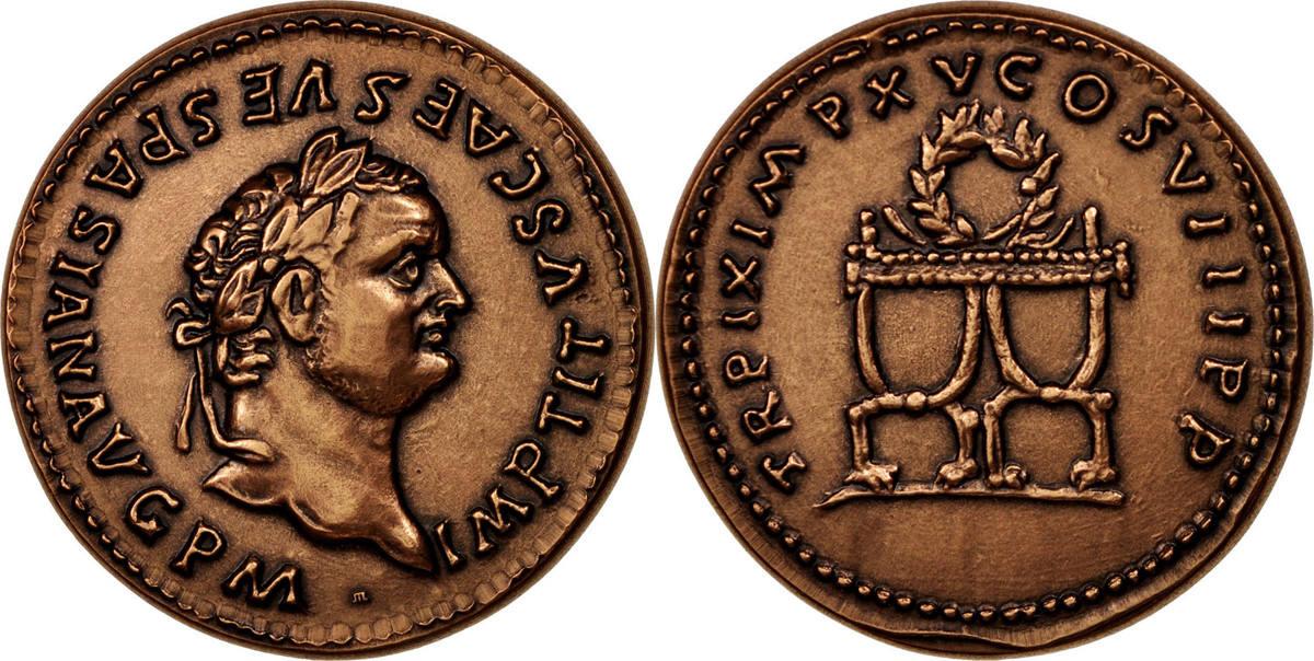 Medal Frankreich Titus, History, STGL, Bronze STGL