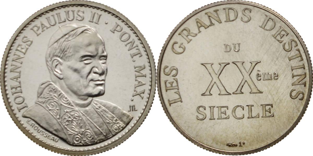 Medal Frankreich Iohannes Paulus II, Les grands destins du XXe siècle STGL