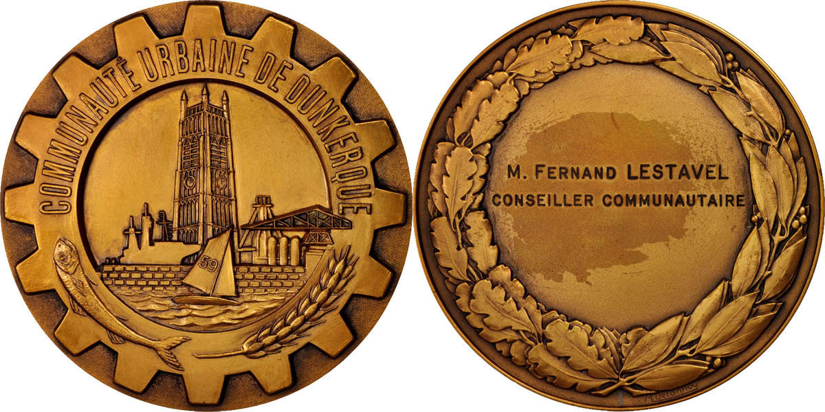 Medal Frankreich Communauté urbaine de Dunkerque, Politics, Society, War VZ