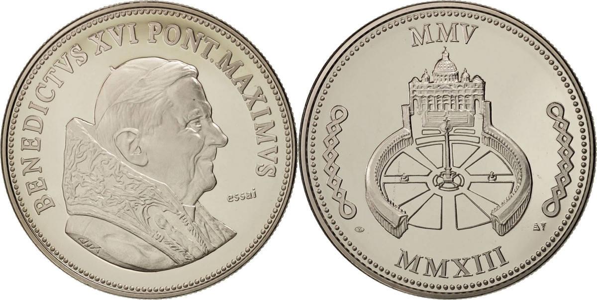 Medal 2013 Frankreich Benoit XVI, Religions & beliefs, STGL, Nickel STGL
