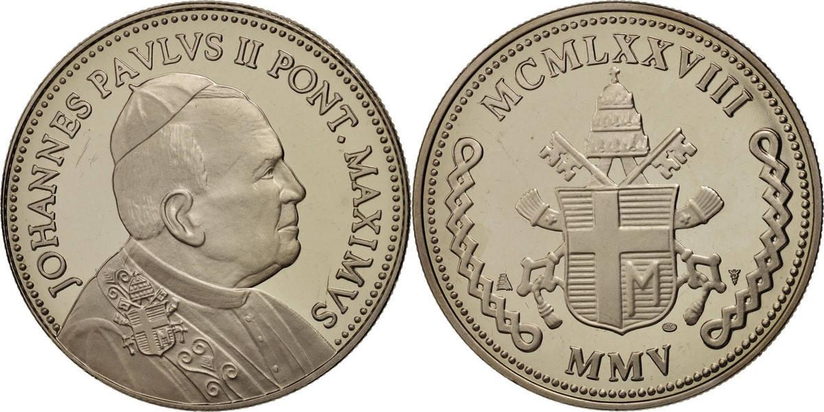 Medal Frankreich Iohannes Paulus II, Religions & beliefs, STGL, Nickel STGL