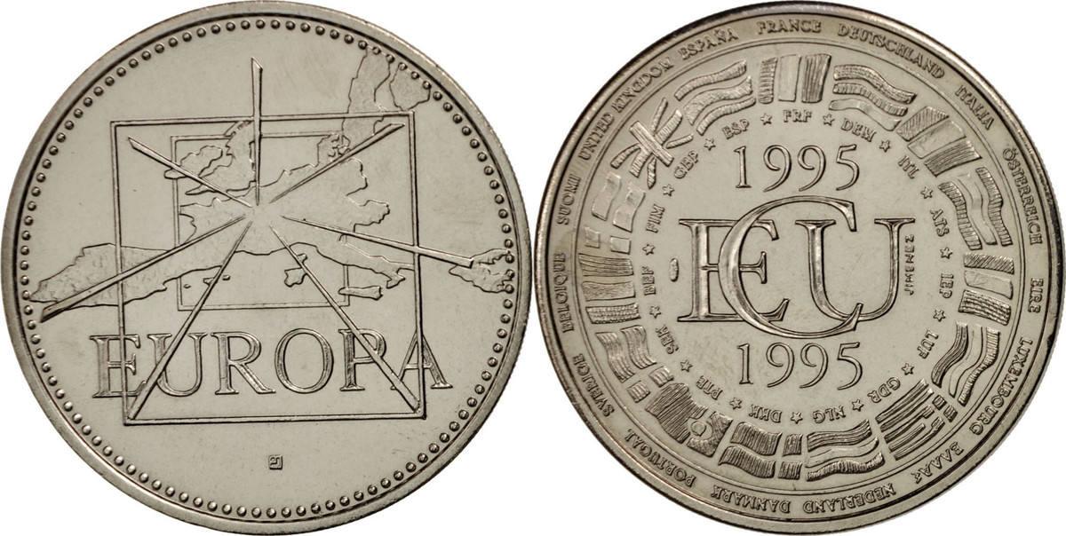 Medal 1995 Frankreich Écu Europa 1995, French Fifth Republic, Politics, Society... STGL