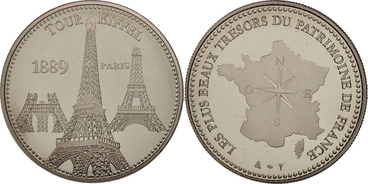 Medal Frankreich Les plus beaux trésors du patrimoine de France, Tour Eiffel STGL