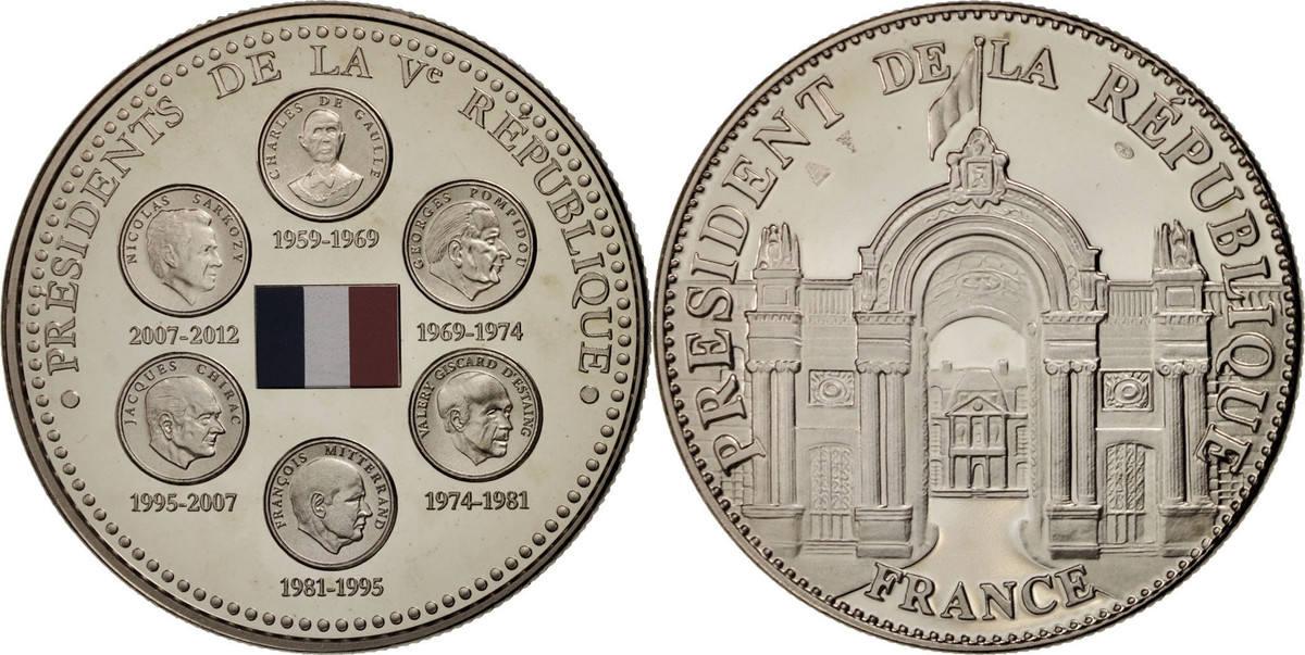 Medal Frankreich Présidents de la Ve République, History, STGL, Nickel STGL