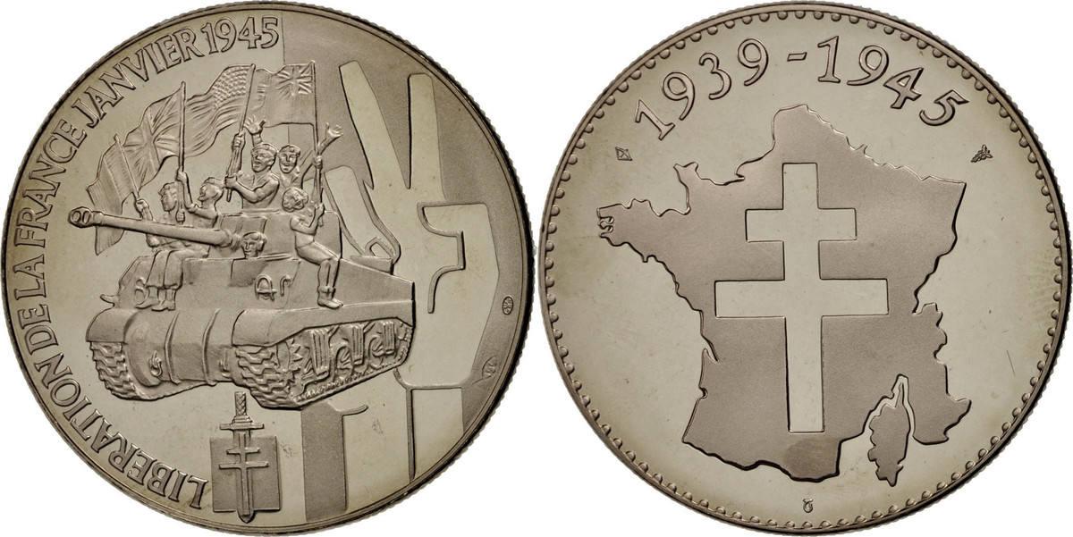 Medal Frankreich Libération de la France 1945, History, STGL, Nickel STGL