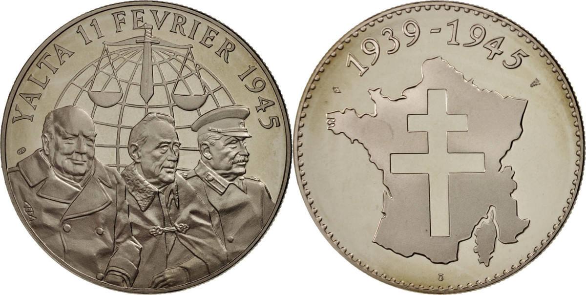 Medal Frankreich 1939-1945, Yalta, History, STGL, Cupro-nickel STGL