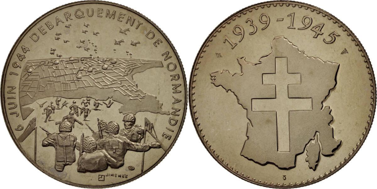 Medal Frankreich Débarquement de Normandie, The Fifth Republic, History STGL