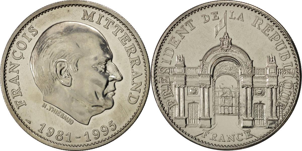 Medal Frankreich François Mitterrand, Président de la République VZ+