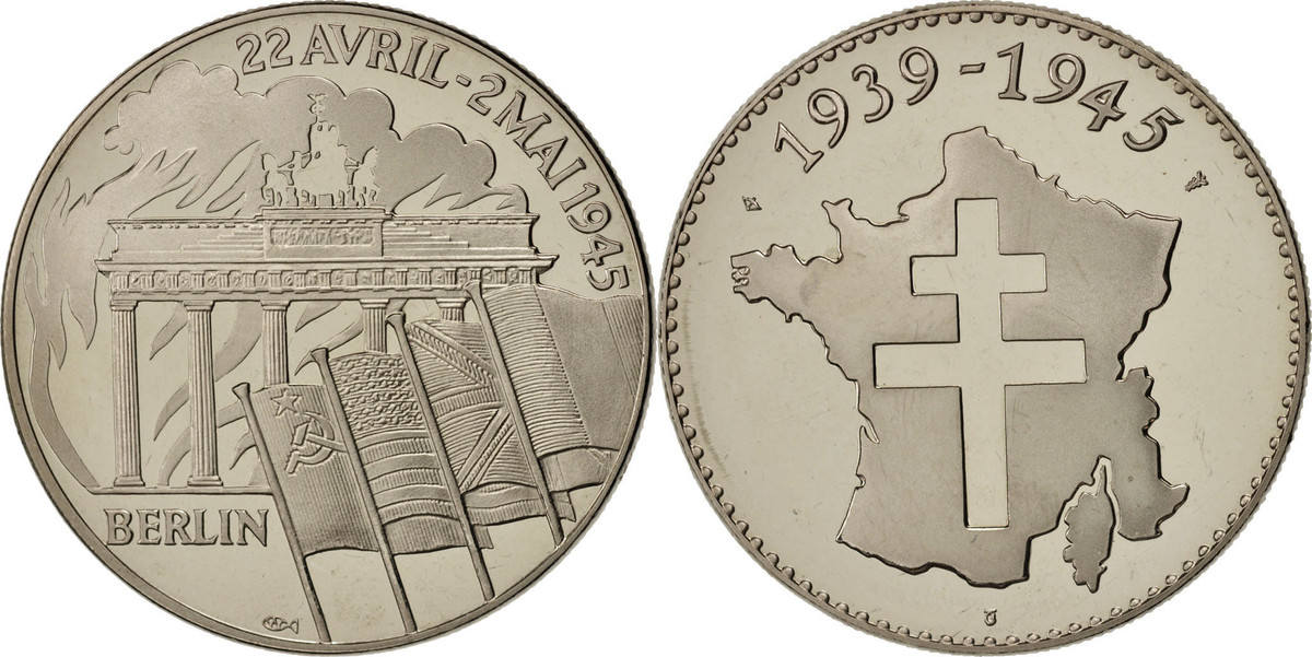 Medal Frankreich 1935-1945, Berlin, 22 avril - 2 mai 1945, History, STGL STGL