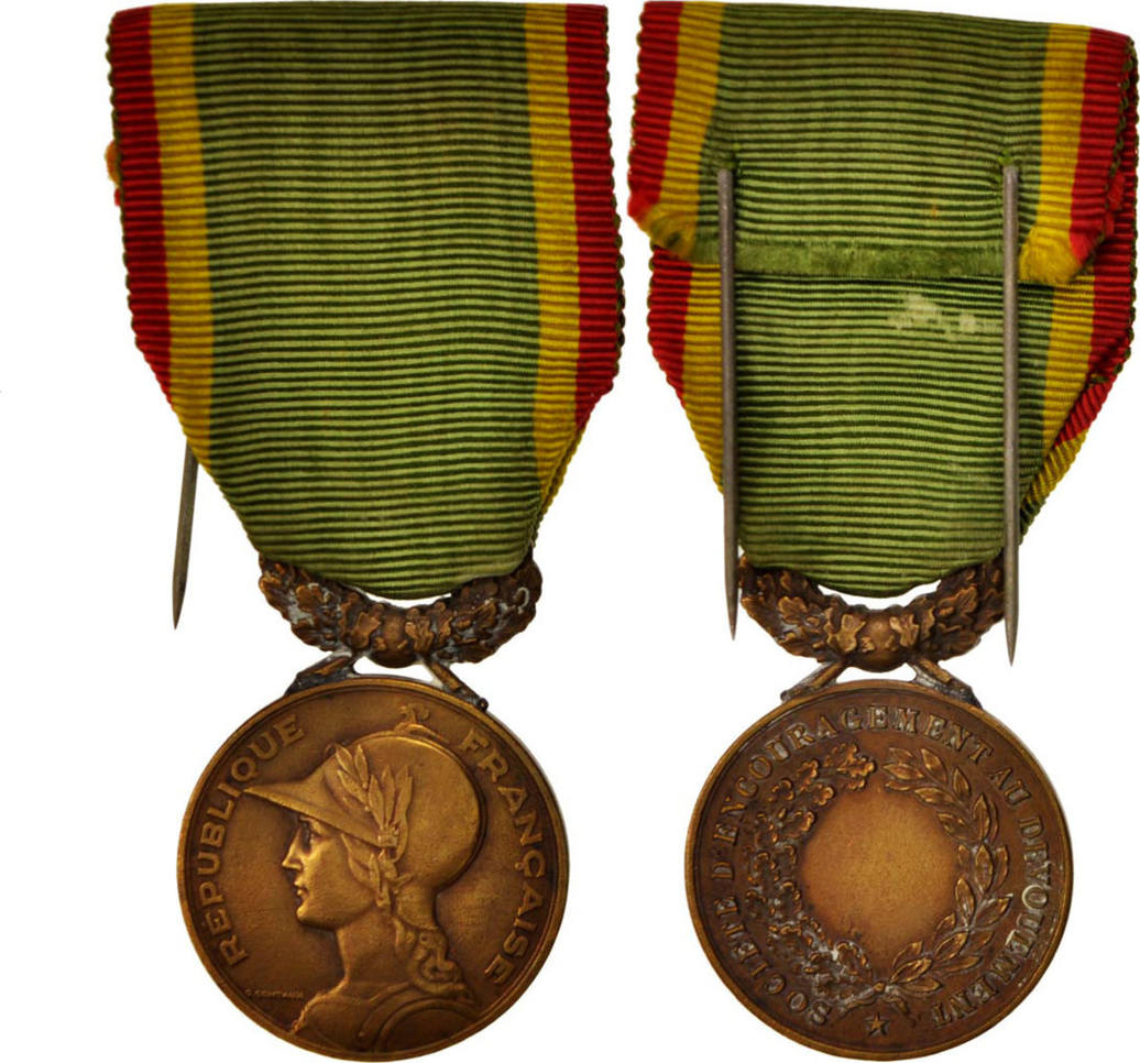 Medal Frankreich Société d'encouragement au dévouement, Good Quality, Br...