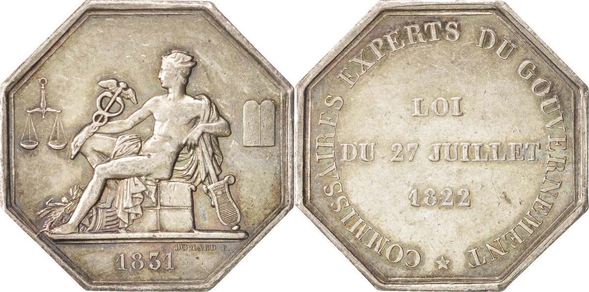 Token 1831 Frankreich Trades, Commissaires experts du gouvernement, VZ VZ