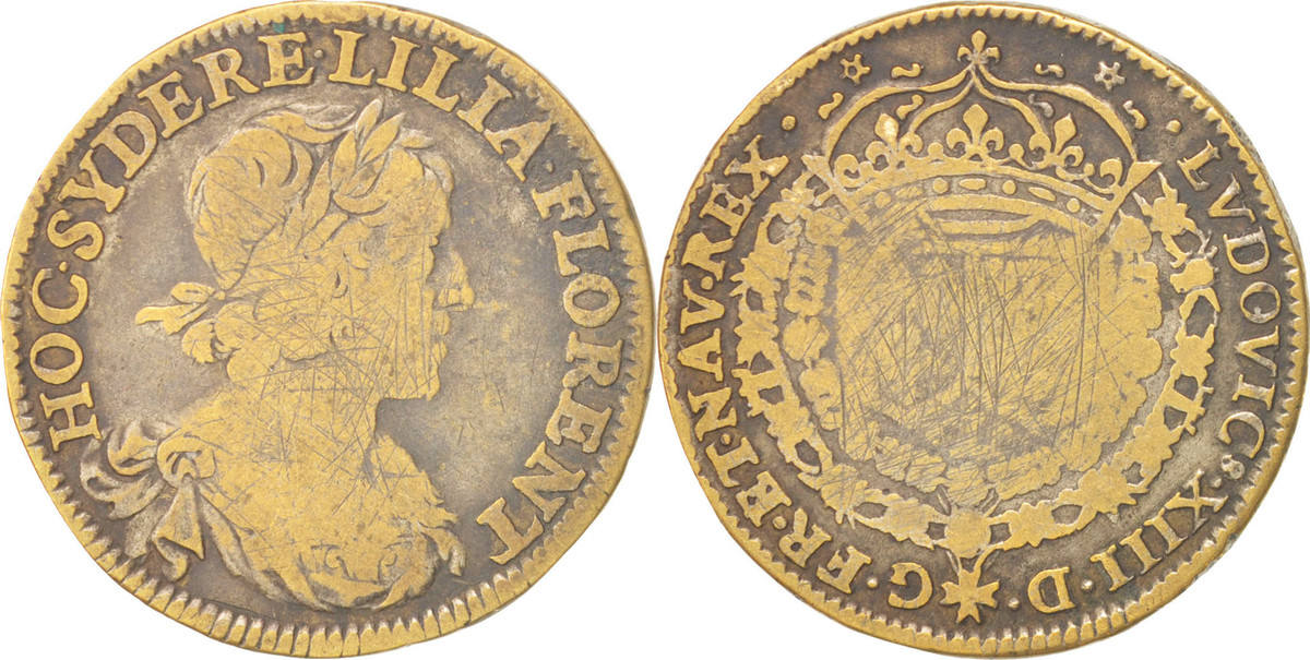 Token Frankreich Royal, Louis XIII, S, Brass, Feuardent:12264 S
