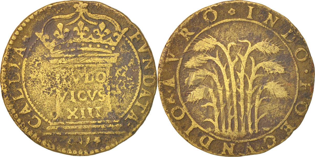Token Frankreich Royal, Rétablissement de la France, Louis XIII, S+, Brass S+
