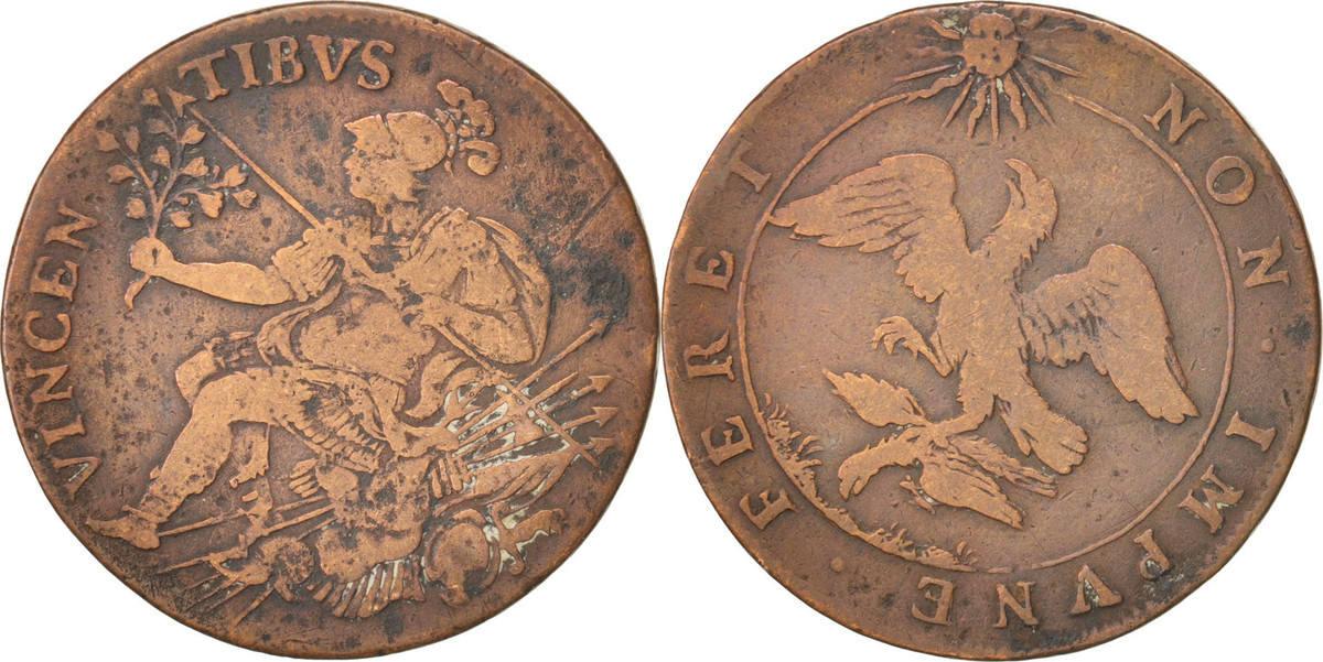 Token Frankreich Royal, Vincentibus, Louis XIV, S, Copper S