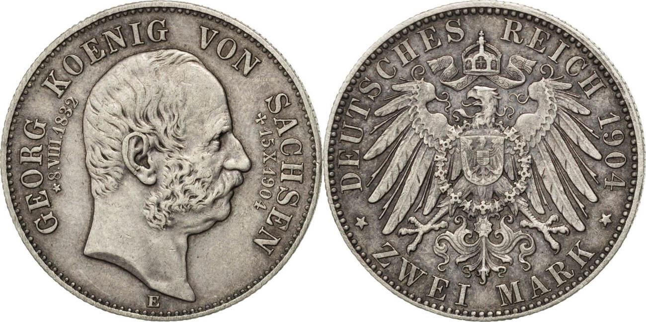 2 Mark 1904 E Deutsch Staaten Death of Georg Friedrich August III AU(50-53)