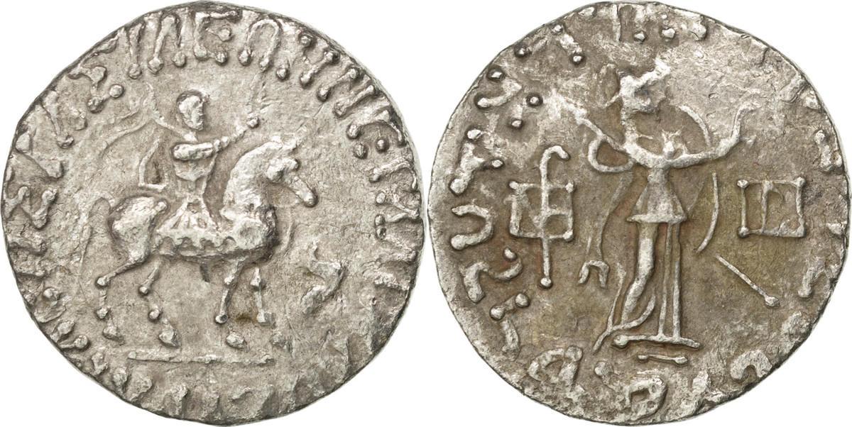 Tetradrachm  Azes I, Indo Scythians AU(55-58)