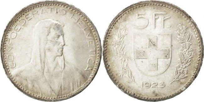 5 Francs 1923 B Schweiz AU(55-58)