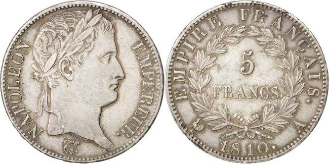 5 Francs 1810 A Frankreich Napoléon I AU(55-58)
