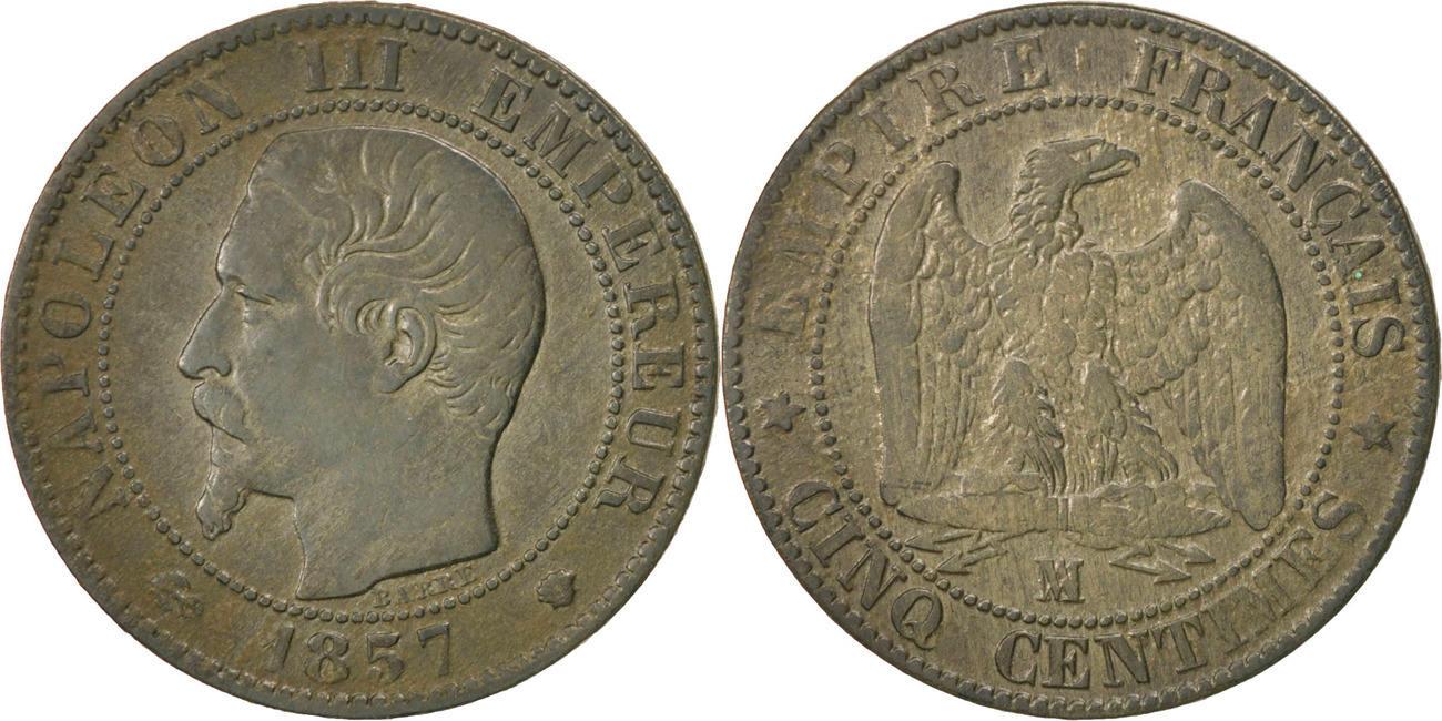 5 Centimes 1857 MA Frankreich Napoléon III Napoleon III VF(30-35)
