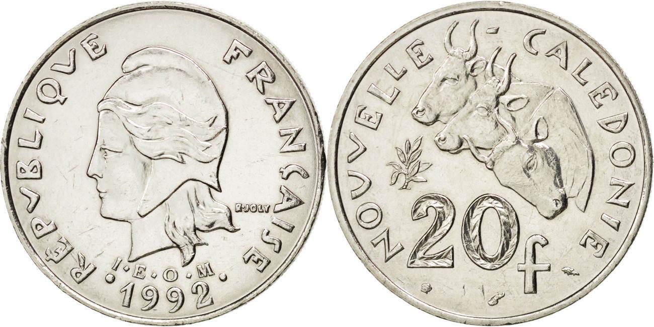 20 Francs 1992 (a) Neukaledonien MS(64)