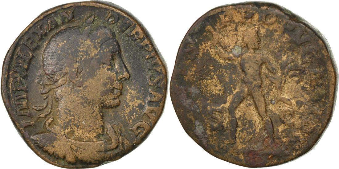 Sestertius Rome Severus Alexander, Rome, Bronze, RIC #628, 20.87 S+