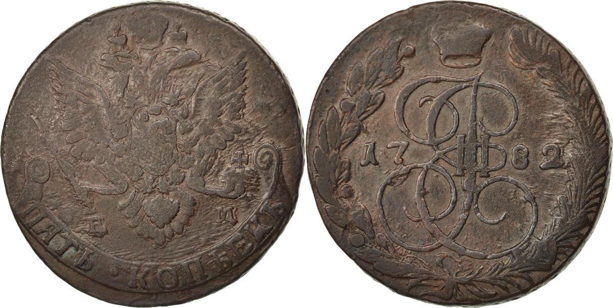 5 Kopeks 1782 ЕМ Russland Catherine II EF(40-45)