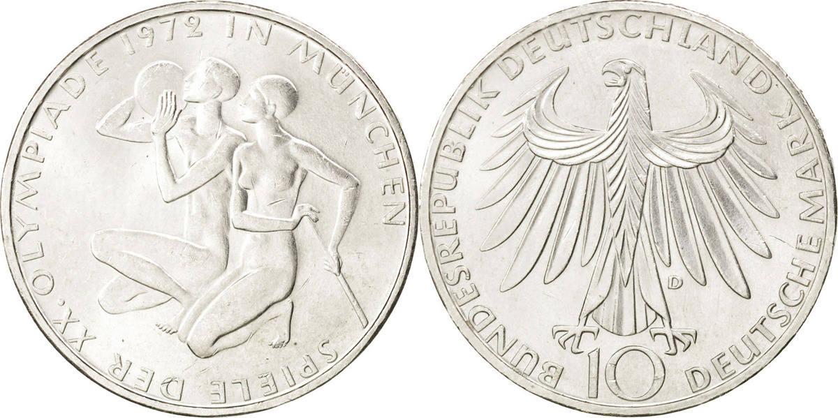 10 Mark 1972 D Bundesrepublik Deutschland MS(63)
