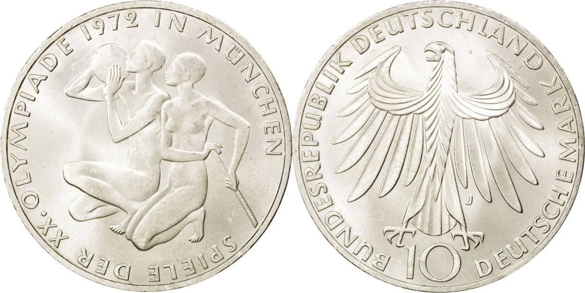 10 Mark 1972 J Bundesrepublik Deutschland MS(63)