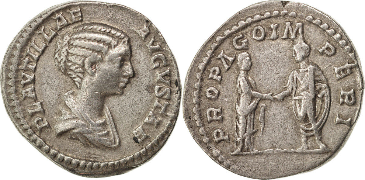 Denarius Roma Plautilla AU(50-53)