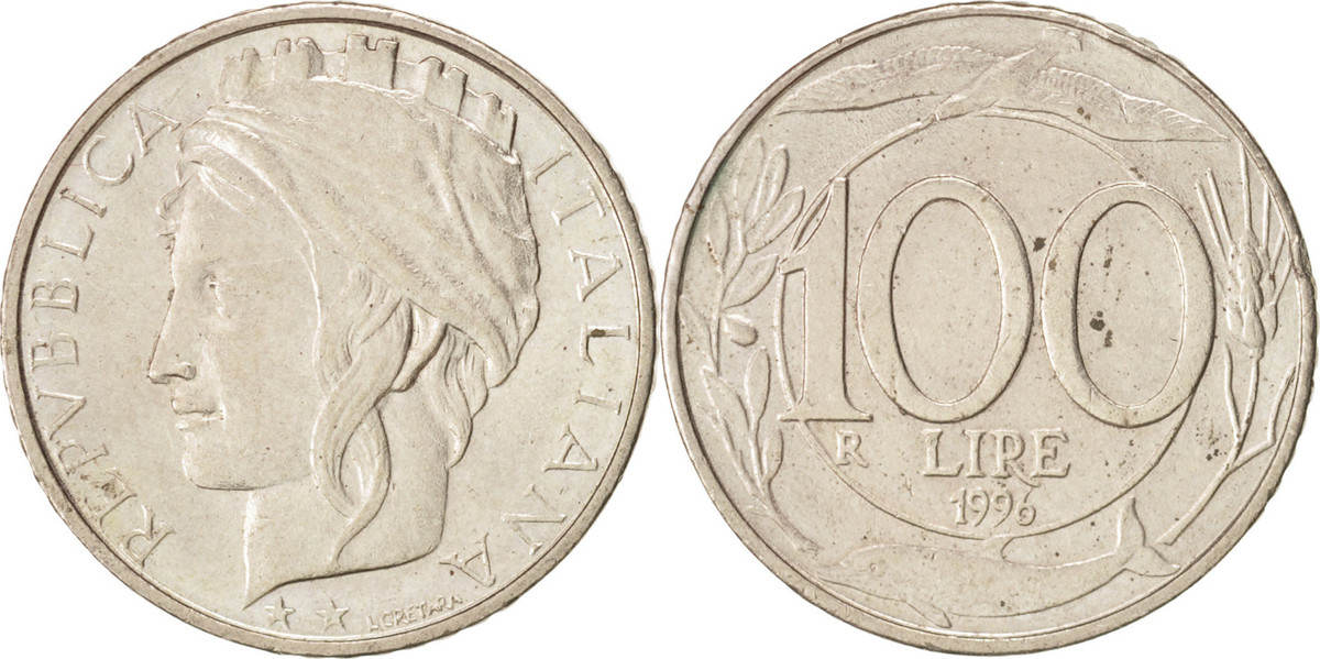 100 Lire 1996 R Italien Rome, Copper-nickel, KM:159 VZ+