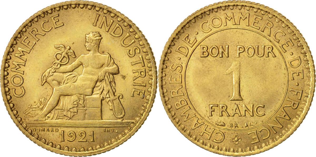 Franc 1921 Paris Frankreich Chambre de commerce, Paris, KM:876 UNZ