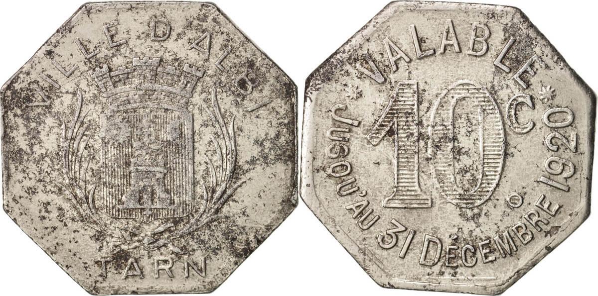 10 Centimes 1920 Frankreich Iron, Elie:10.2 SS+