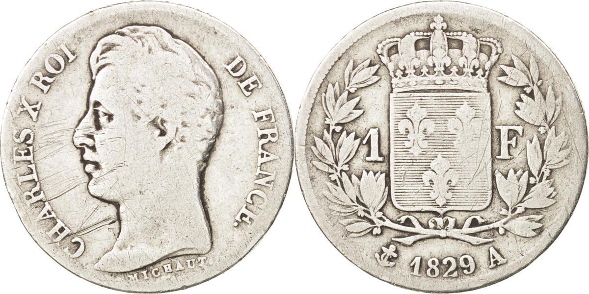 Franc 1829 A Frankreich Charles X F(12-15)