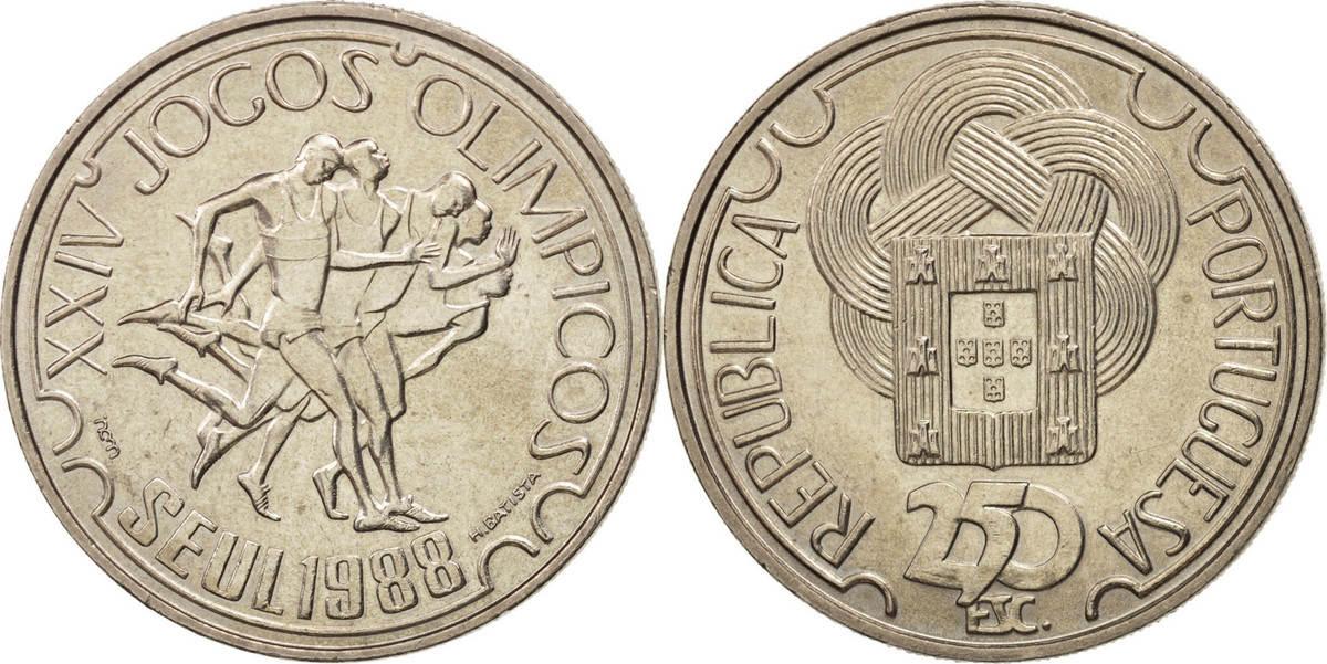250 Escudos 1988 Portugal Seoul Olympics MS(64)