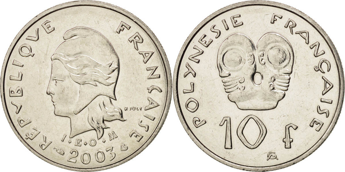 10 Francs 2003 (a) French Polynesia MS(64)