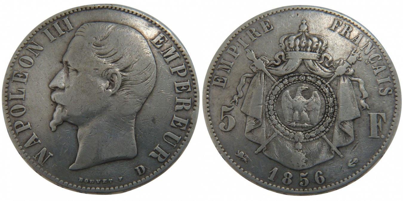 5 Francs 1856 D Frankreich Napoléon III Napoleon III VF(30-35)