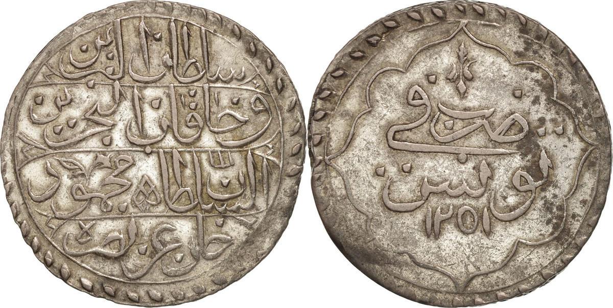 Piastre 1836 Tunesien Mahmud II AU(55-58)