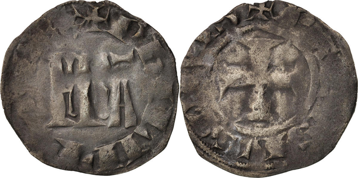 Double Parisis Not Applic Frankreich 1328-1350 Philippe VI EF(40-45)