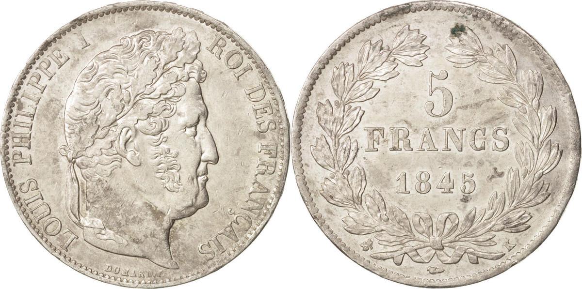 5 Francs 1845 K Frankreich Louis-Philippe AU(50-53)