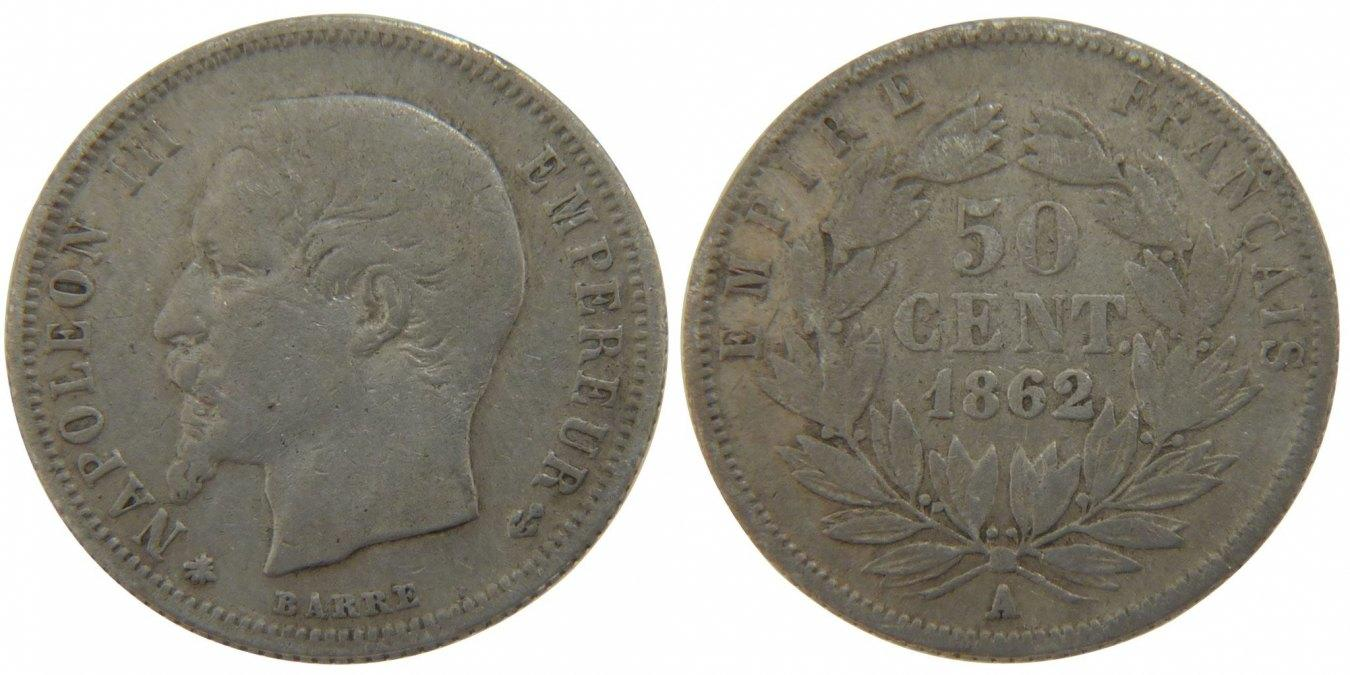 50 Centimes 1862 A Frankreich Napoléon III Napoleon III VF(30-35)